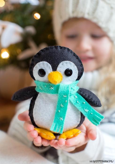 Как сшить своими руками пингвина 58