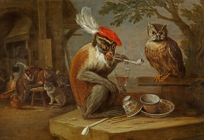 2097049_Kessel_Ferdinand_van_164896__A_monkey_smoking_and_drinking_with_an_owl__Oil_on_canvas_45_1x65_4_cm__Private_Collection (700x480, 104Kb)