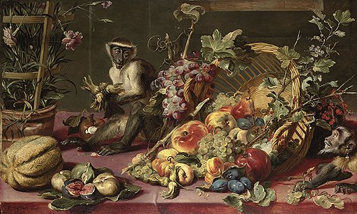 2097049_Snyders_or_Snijders_Frans_15791657__A_Spilled_Basket_of_Fruits_on_a_Draped_Table_with_Monkeys_oil_on_panel_64_5x106_4_cm_PC (512x307, 66Kb)