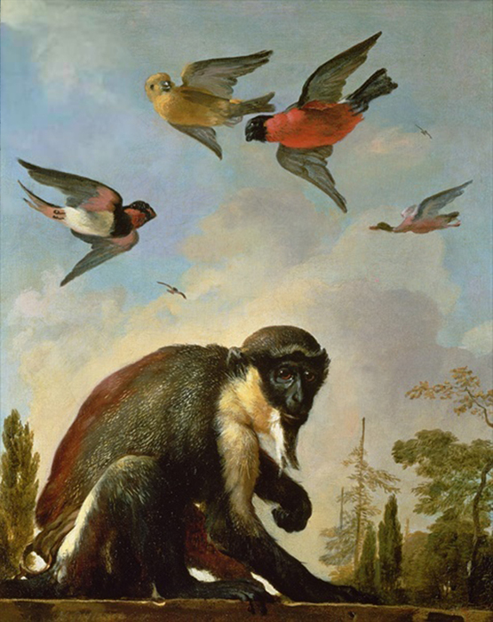 2097049_Hondecoeter_Melchior_de_163695__Chained_monkey_in_a_landscape__oil_on_canvas__Private_Collection (555x700, 315Kb)//2097049_Hondecoeter_Melchior_de_163695__Chained_monkey_in_a_landscape__oil_on_canvas__Private_Collection (555x700, 315Kb)