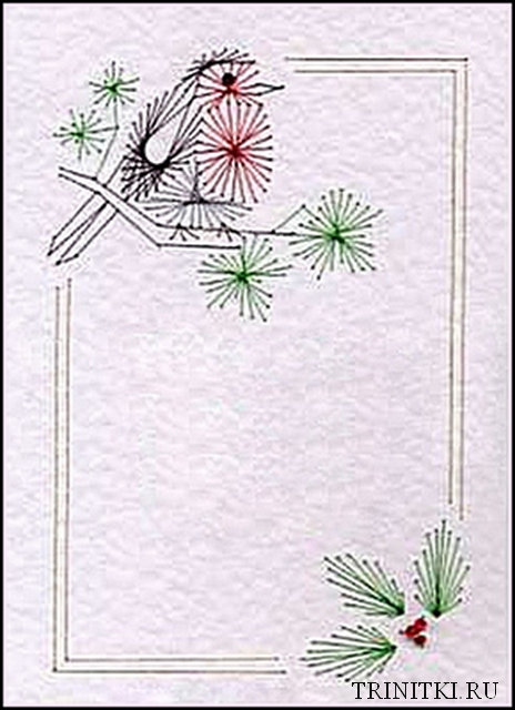 Новогодние открытки изонить схемы
