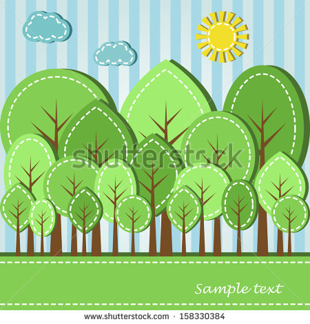 stock-photo-illustration-of-spring-or-summer-colored-forest-dashed-style-158330384 (450x470, 72Kb)