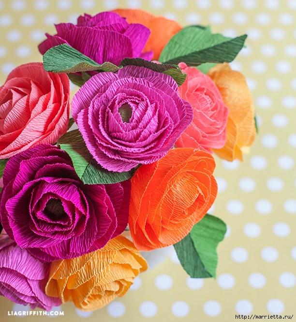 Приколы смотреть, цветы из гофрированной бумаги мастер класс на открытку