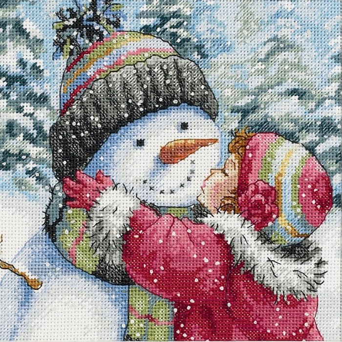 Dimensions_08833_A_Kiss_for_Snowman (700x700, 697Kb)