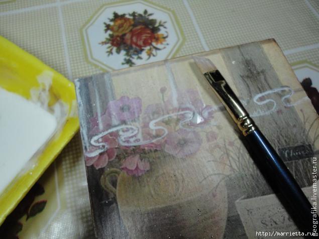 Декупаж. Рисуем вуаль со складочками. Мастер-класс (11) (635x476, 131Kb)