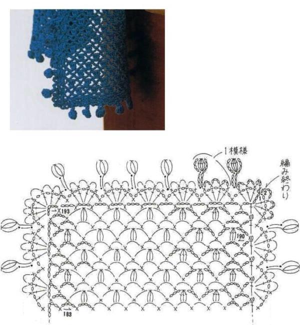 нас смущает обвязка шарфа крючком фото схемы и описание материал чайнворды