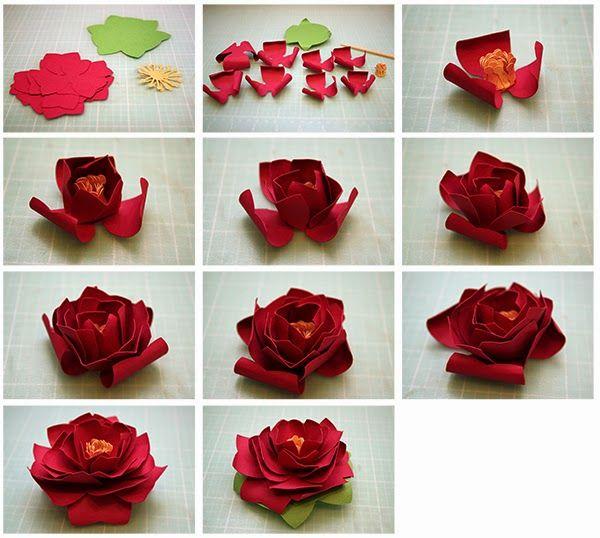 Цветы из вафельной бумаги своими руками 539
