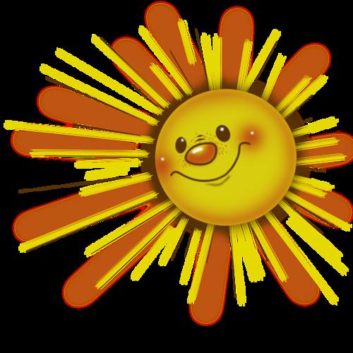 картинка солнышко с улыбкой и лучиками анимация снимает очки