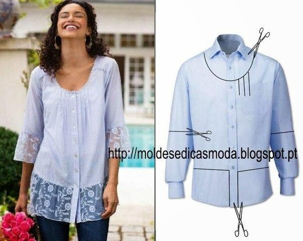 4f56acab4b1 красивая блузка из мужской рубашки - Самое интересное в блогах