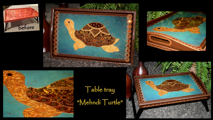 My Craft_Table tray_Mehndi Turtle (700x393, 379Kb)
