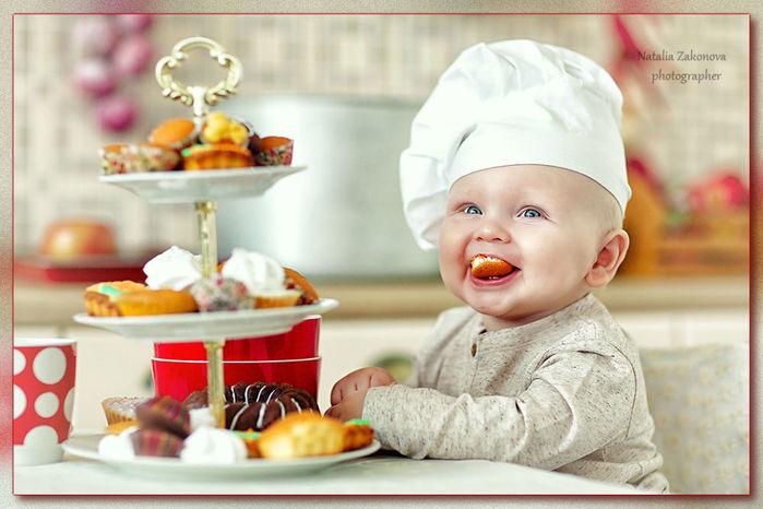 фото ребенок поваренок