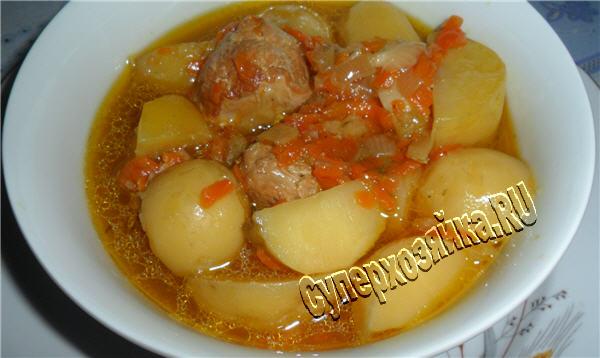 Блюда из картошки и мяса простые рецепты