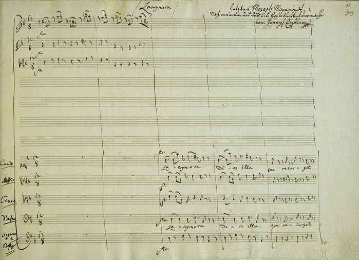 Manuscript  of  the  last  page of  Requiem  Первая страница Lacrimosa (700x506, 73Kb)