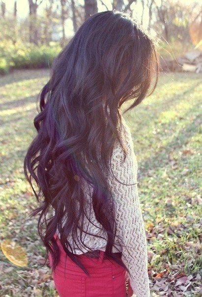 Wavy hair tumblr back of head
