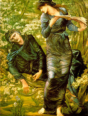 300px-The_Beguiling_of_Merlin_by_Edward_Burne-Jones (300x396, 65Kb)