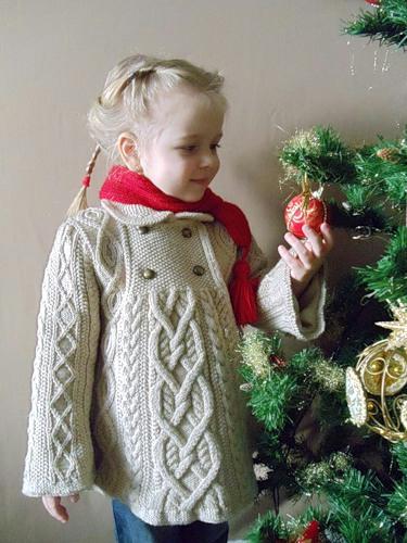 схема вязания пальто для девочки самое интересное в блогах