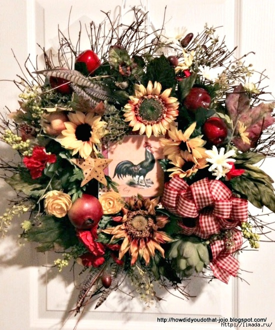 Wreath-with-sunflowers (550x660, 315Kb)