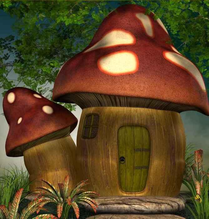 гриб домик картинки фэнтези продолжающееся снижение выпуска