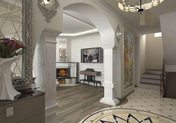 арки из гипсокартона коридоре в фото