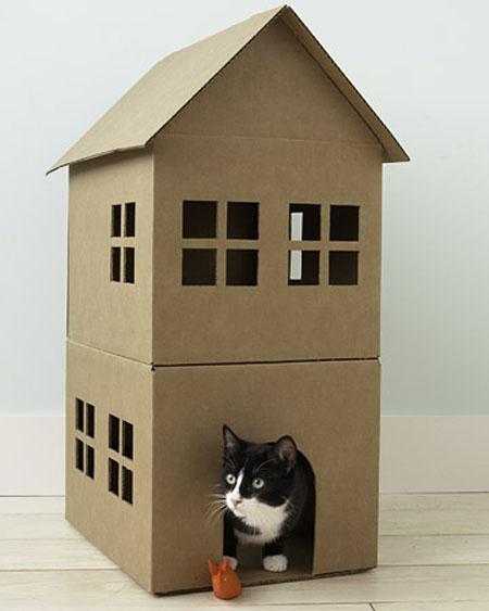 Многоэтажный дом для кошки своими руками