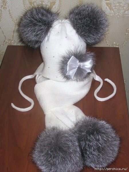 Как распушить меховой помпон на шапке