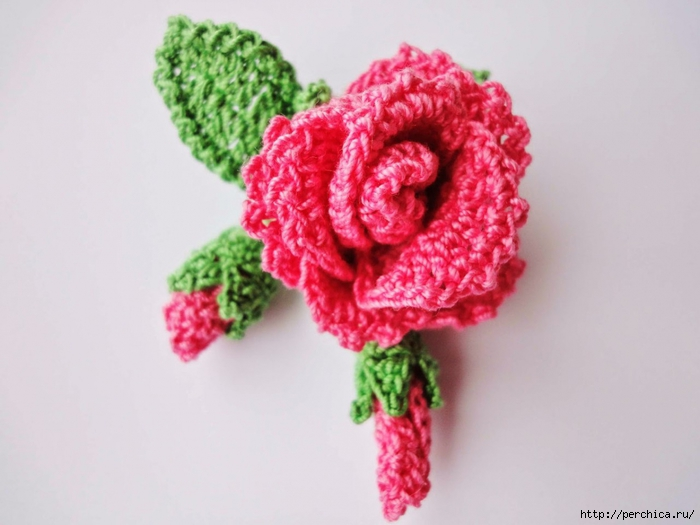 красивая роза и бутон связаны крючком 2 видео мк обсуждение на