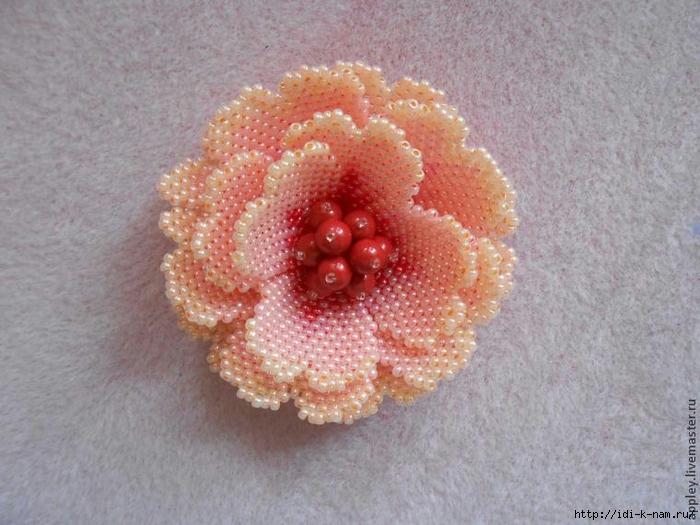 Как сделать маленький цветок из бисера 567