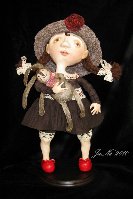 Кукла из паперклея, Paperclay. Мастер класс