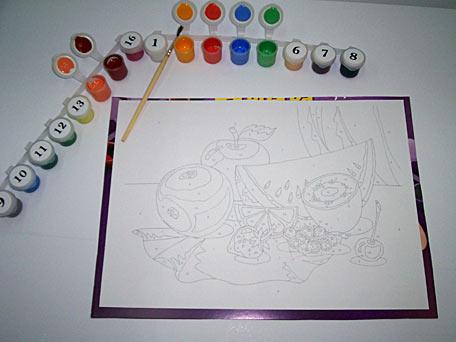 раскраски и картины по номерам на картоне