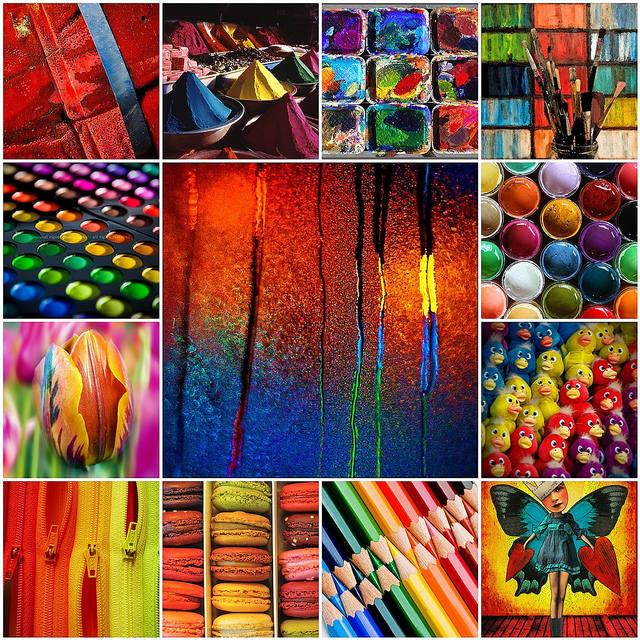 коллаж цветных картинок