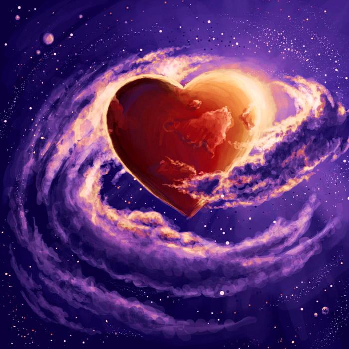 Открытки космос и любовь, первое свидание