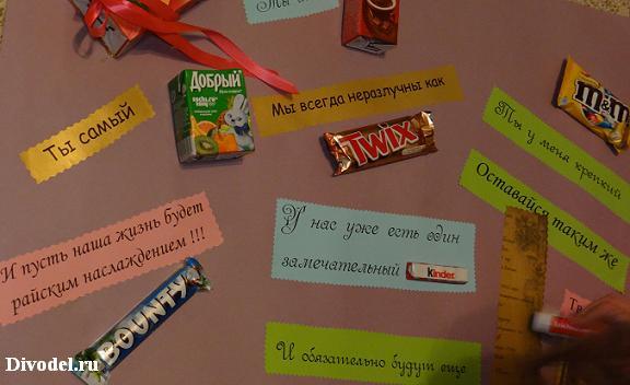 открытки с соками и шоколадом открытым