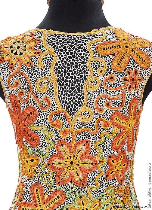 схема вязания ирландского цветка