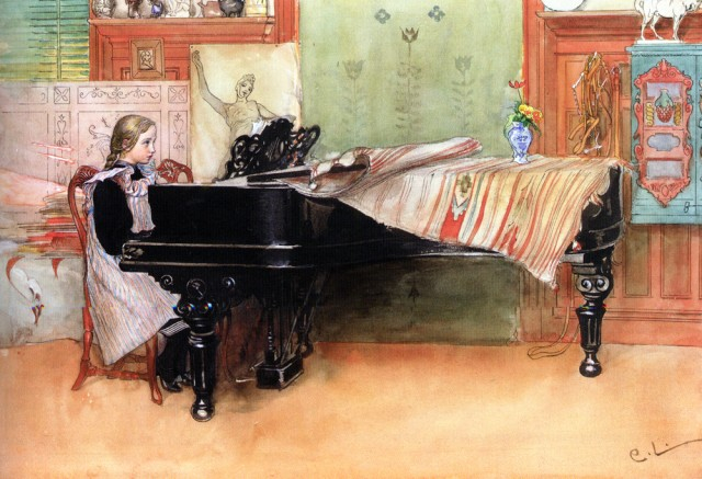 Carl Larsson - Playing Scales (640x437, 283Kb)