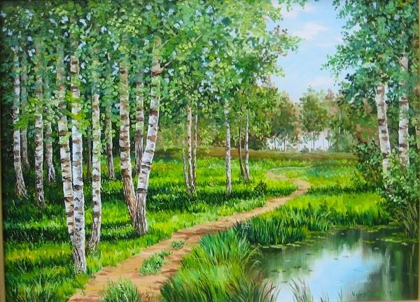 лес летний период