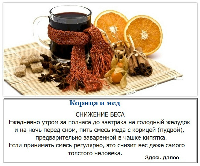 Мед и корица можно ли похудеть