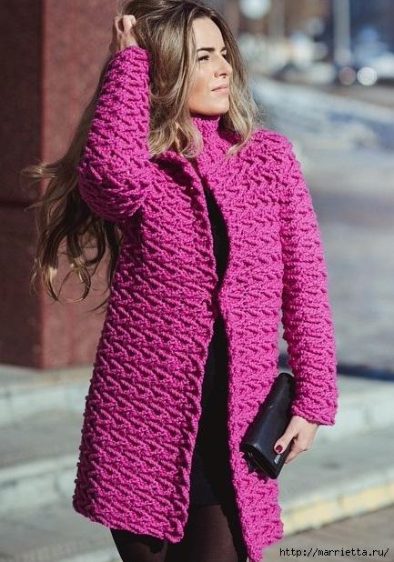 Фантазийный узор для вязания крючком пальто (1) (433x618, 222Kb)