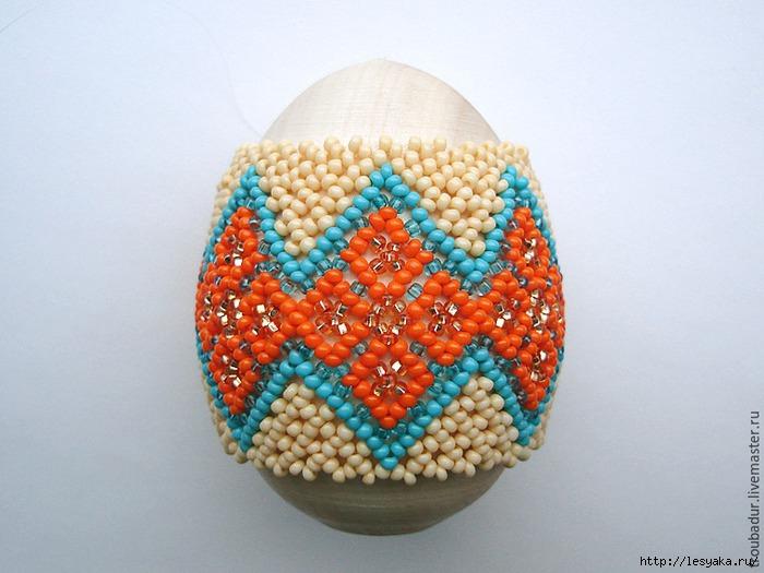 Яйцо из бисера мастер класс видео своими руками #9