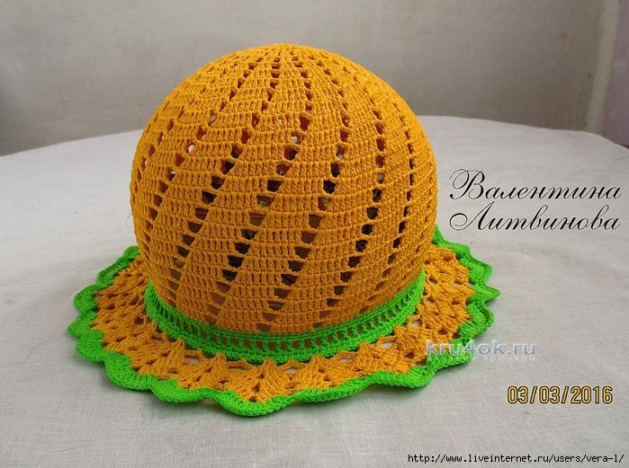 Мастер класс по вязанию крючком летних шапочек 929