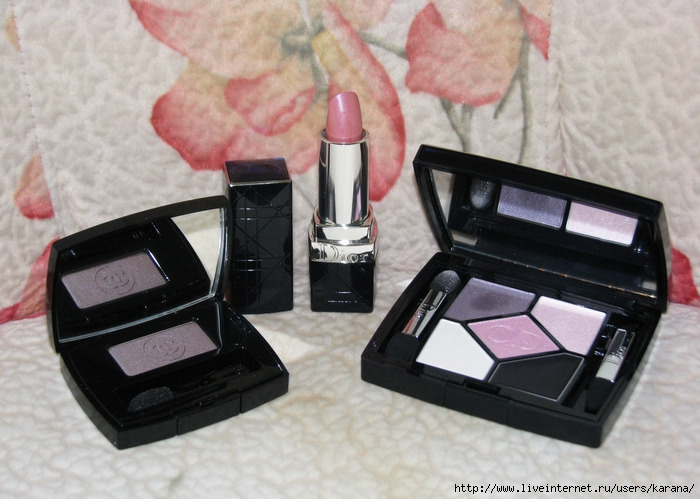 Chanel 87 Taupe grise, Dior Rouge 264, Dior 808 Pink design