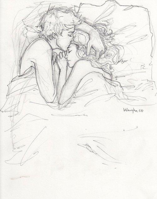 Рисунки простым карандашом про секс