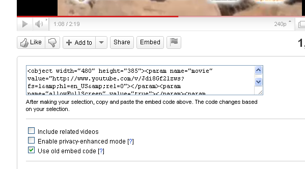Новый код плеера YouTube и как его вставить в блог