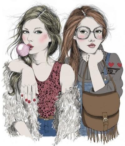 картинки рисованные девочки