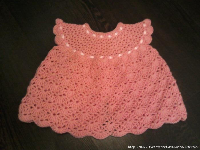 Lutik вязание крючком и спицами платье от 0 3 мес мои работы