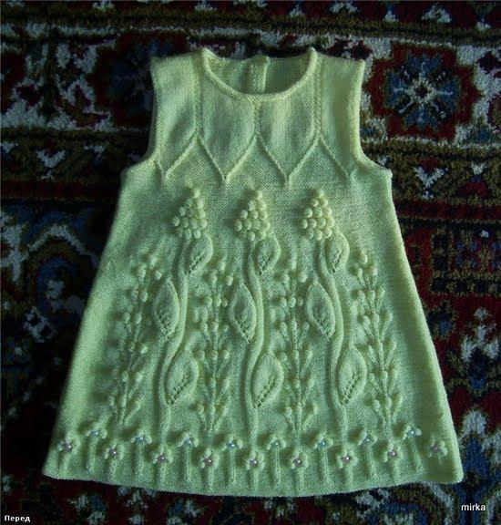 Детское платье ,вязанное крючком и. детские платья крючком схемы br.