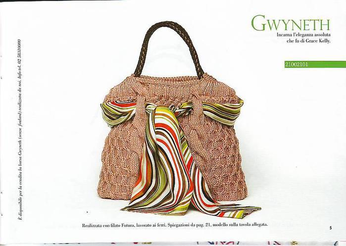 Красивые вязаные сумки спицами (с.