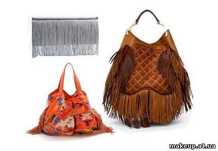 ...Jil Sander; сумка с цветным орнаментом и бахромой по бокам, Diane von...