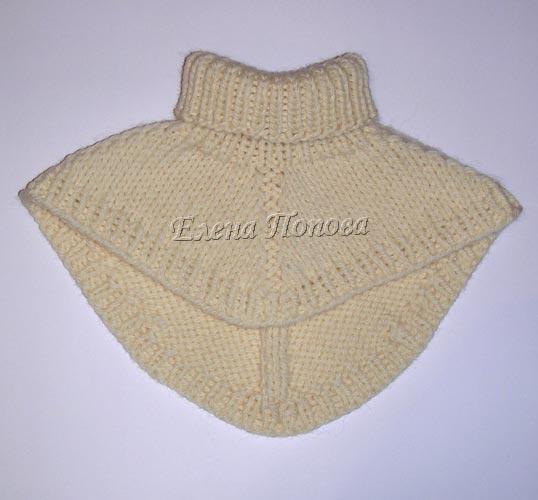 Описание: вязание спицами для женщин манишка.