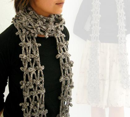 Вязание крючком схемы шарф мужской.