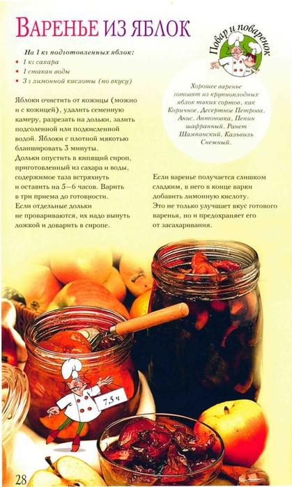 рецепты варенья с картинками рука первой